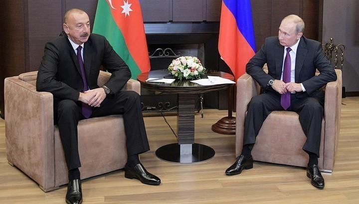 Президент Азербайджана Ильхам Алиев и президент России Владимир Путин. Фото: kremlin.ru