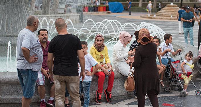 Арабские туристы в Баку