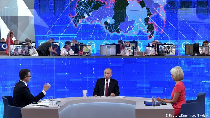 Прямая линия с Владимиром Путиным фото: www.dw.com