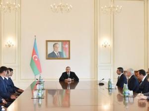 Ильхам Алиев 2 октября  встретился с членами сборной Азербайджана