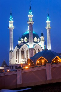 Мечеть Кул-Шариф вечером.г. Казань, Татарстан. Фотограф: Андрей Дегтярев