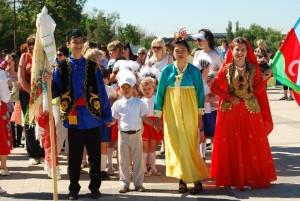 Шествие на межнациональном Детском Сабантуе Фотограф: Виктор Сайфуллин