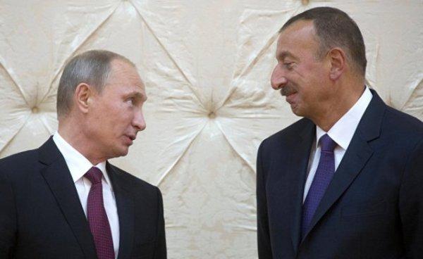 Владимир Путин и Ильхам Алиев. Фото azertag.az