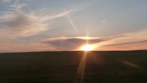 Рассвет над селом Карлыган (Пензенская обл. Лопатинский р-н). Фотограф: Алсу Юмаева
